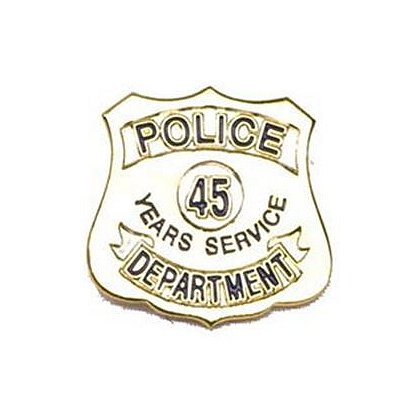 Police Department 45 Years Of Service Pin