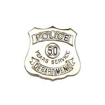 Police Department 50 Years Of Service Pin