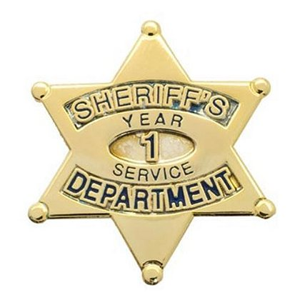 Sheriff's Department 1 Year Of Service Pin