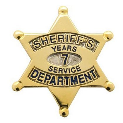 Sheriff's Department 7 Years Of Service Pin