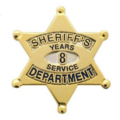Sheriff's Department 8 Years Of Service Pin
