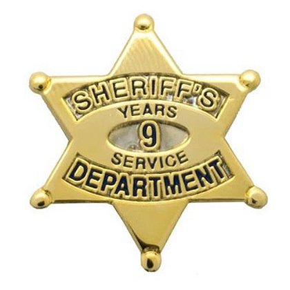 Sheriff's Department 9 Years Of Service Pin