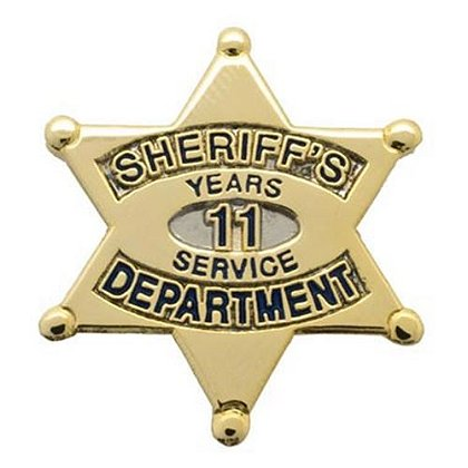 Sheriff's Department 11 Years Of Service Pin