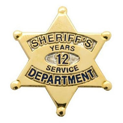 Sheriff's Department 12 Years Of Service Pin