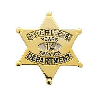 Sheriff's Department 14 Years Of Service Pin