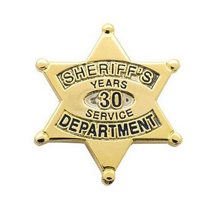 Sheriff's Department 30 Years Of Service Pin
