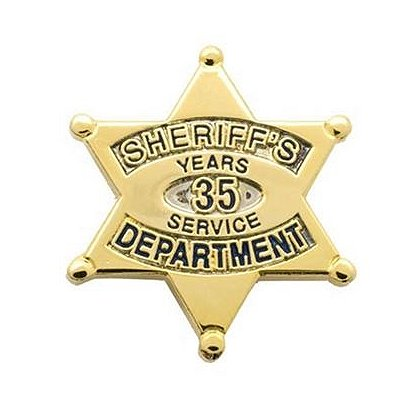 Sheriff's Department 35 Years Of Service Pin