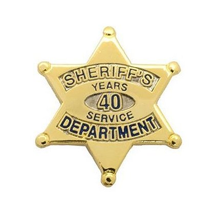 Sheriff's Department 40 Years Of Service Pin