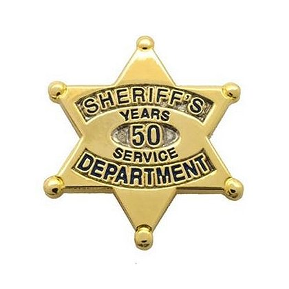Sheriff's Department 50 Years Of Service Pin