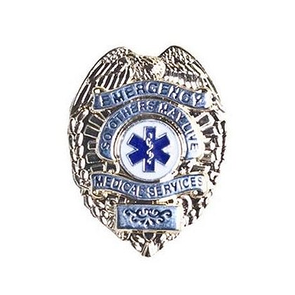 Emergency Medical Services Badge Pin