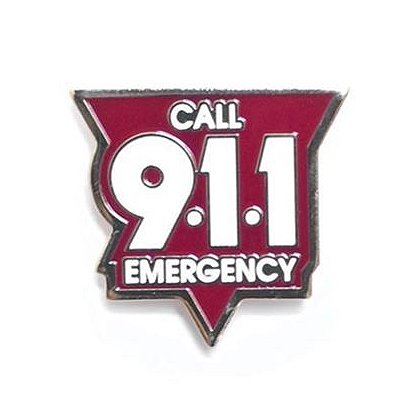 Call 911 Pin