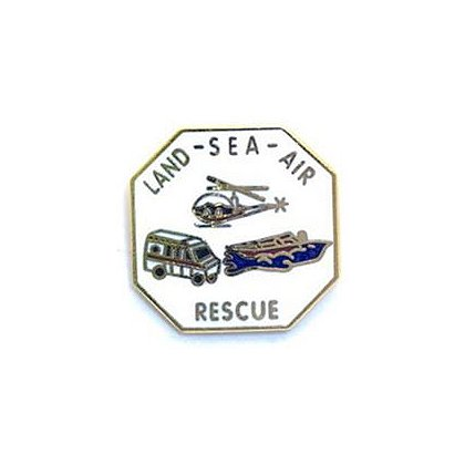 Land Sea Air Rescue Pin