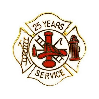 Fire Dept. 25 Years of Service Pin