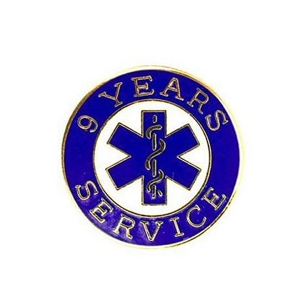 EMS 9 Years of Service Pin