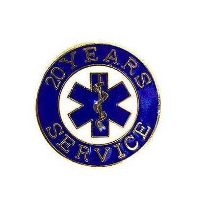 EMS 20 Years of Service Pin