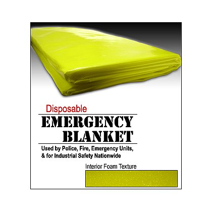 Junkin Disposable Rescue Blanket, Water Resistant, Individually Packed