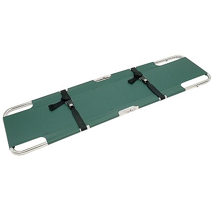Junkin Easy-Fold Plain Stretcher, 18 oz. Green
