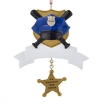 Kurt Policeman with Banner Ornament