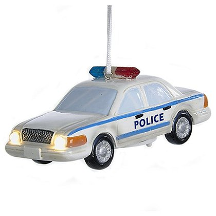 LED Police Car Ornament