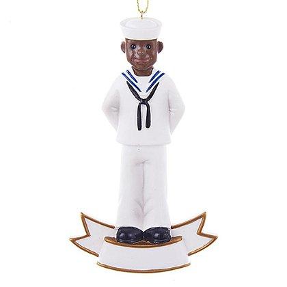 U.S. Navy African American Soldier Ornament