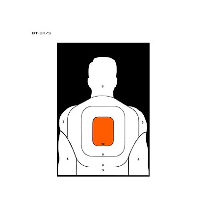 LET, Inc 25 Yard Silhouette Target, 50ct