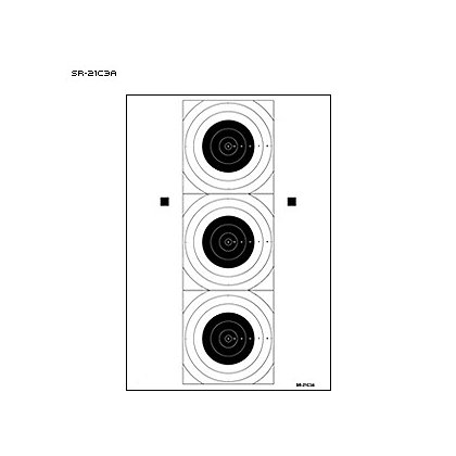 LET, Inc 3 Bullseye Training Target, 50ct