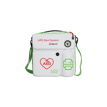 LIFE Corp StartSystem, 113 Liter Emergency Oxygen with Portable Wall Case, AED NOT INCLUDED