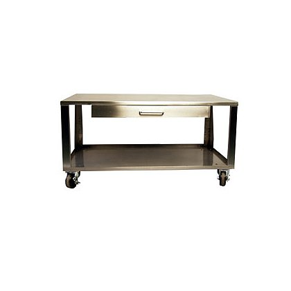 L&R Ultrasonics Stainless Steel Cart for LE-242 Weapons Cleaning System