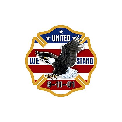 Exclusive Maltese Cross Eagle United We Stand 9-11-01 Decal