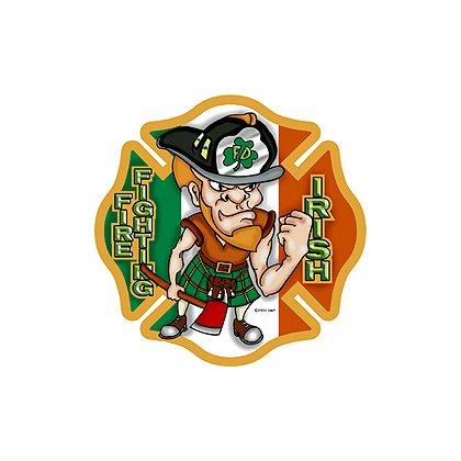 TheFireStore Maltese Cross FireFighting Irish Full Color Decal