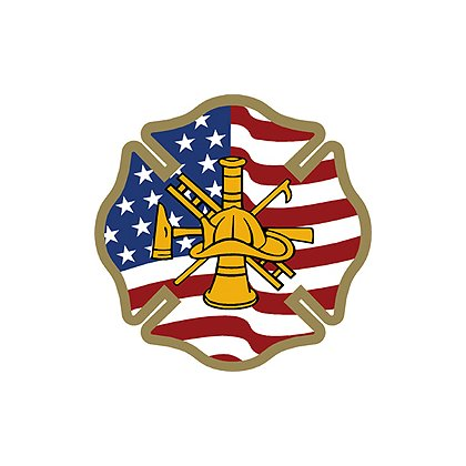 Maltese Cross with Firefighter Scramble Decal