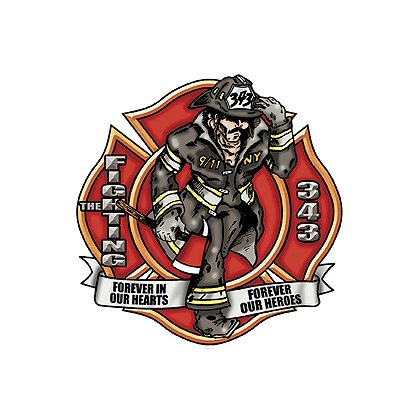 Exclusive Maltese Cross The Fighting 343 Reflective Decal