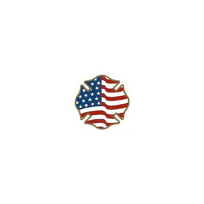 TheFireStore Maltese Cross USA Reflective Flag Decal, 2