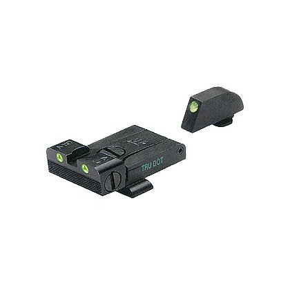 Meprolight TRU-DOT Adjustable Night Sight Set for Glock Models 17,19, 20, 21, 22, 23, & 34
