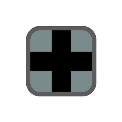 "MIL-SPEC Monkey 1"" x 1"" Medic Square"