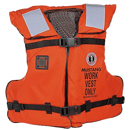 Mustang Survival Work Vest with SOLAS Reflective Tape