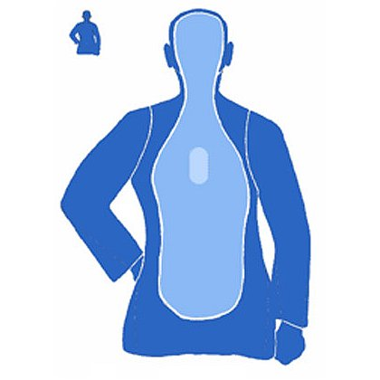 National Target Law Enforcement Silhouette, 25 Yard, 22.5