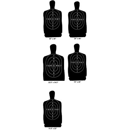 National Target Police Pistol Silhouette Target- Pistol