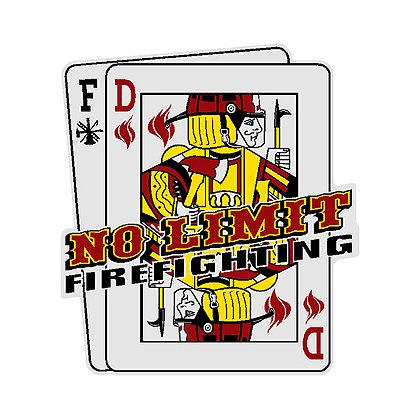 No Limit Playing Cards Decal