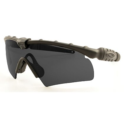 Oakley Standard Issue Ballistic Safety / Sunglasses, Black Hybrid M-Frame with Grey Lenses
