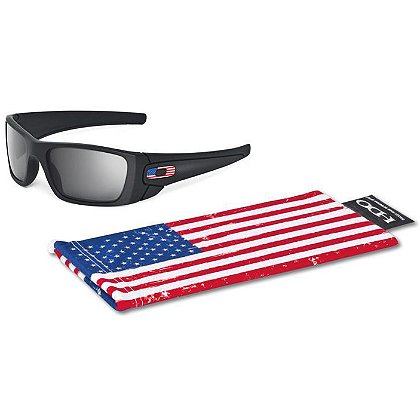 Oakley SI Fuel Cell Sunglasses w/ US Flag Icon