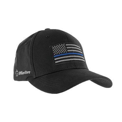 Exclusive OfficerStore Hat with Thin Blue Line Flag