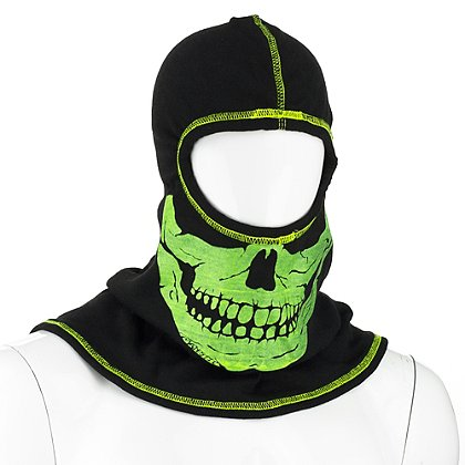 Majestic PAC F20 Black Ultra C6 Hood with Yellow Fire Ink Skull