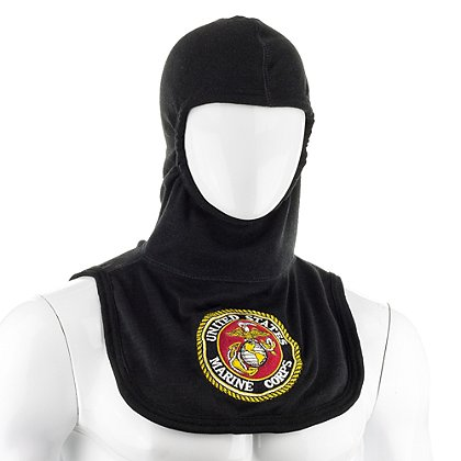 Majestic PAC II Black Marine Embroidered Hood, NFPA 1971-2013