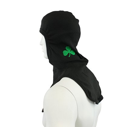 Majestic PAC II Black P84 Hood w/ Embroidered Shamrock