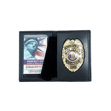 Perfect Fit Dress Leather Book Style Badge ID Case