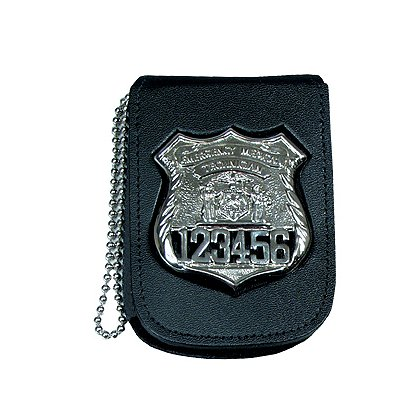Recessed Leather Neck Badge & ID Holder w/ 30