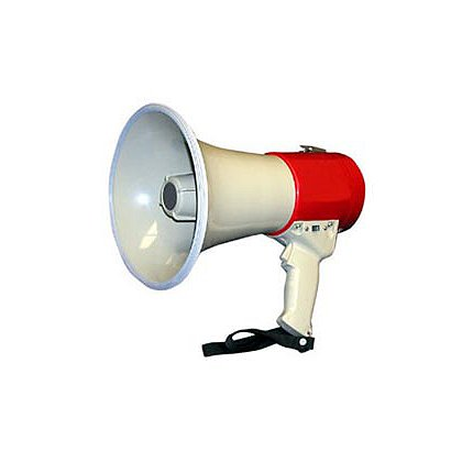 MG Electronics 15-Watt Piezo Dynamic Megaphone Lighter, Louder, and Longer Lasting