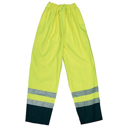 Lakeland High Vis Rain Pant with Reflective Leg Trim, ANSI 107-2010 class 3