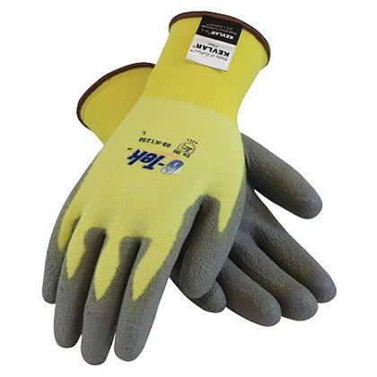 PIP G-Tek Glove, Kevlar/Lycra Seamless Knit Liner with Gray Poly Coating